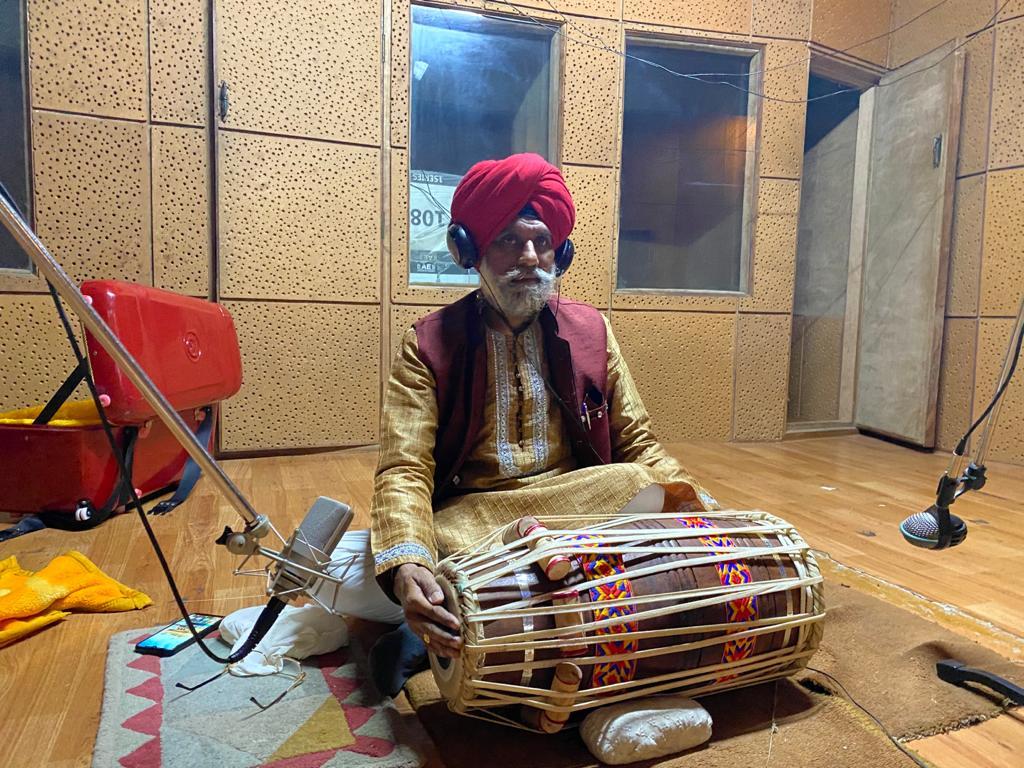 Prof. Harbhajan Singh Dhariwal playing Pakhawaj